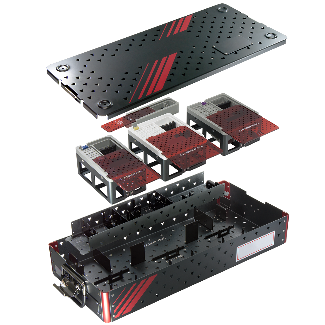 Surgical case and tray assembly