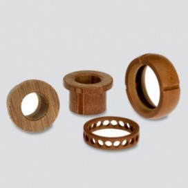 Phenolic lathed components